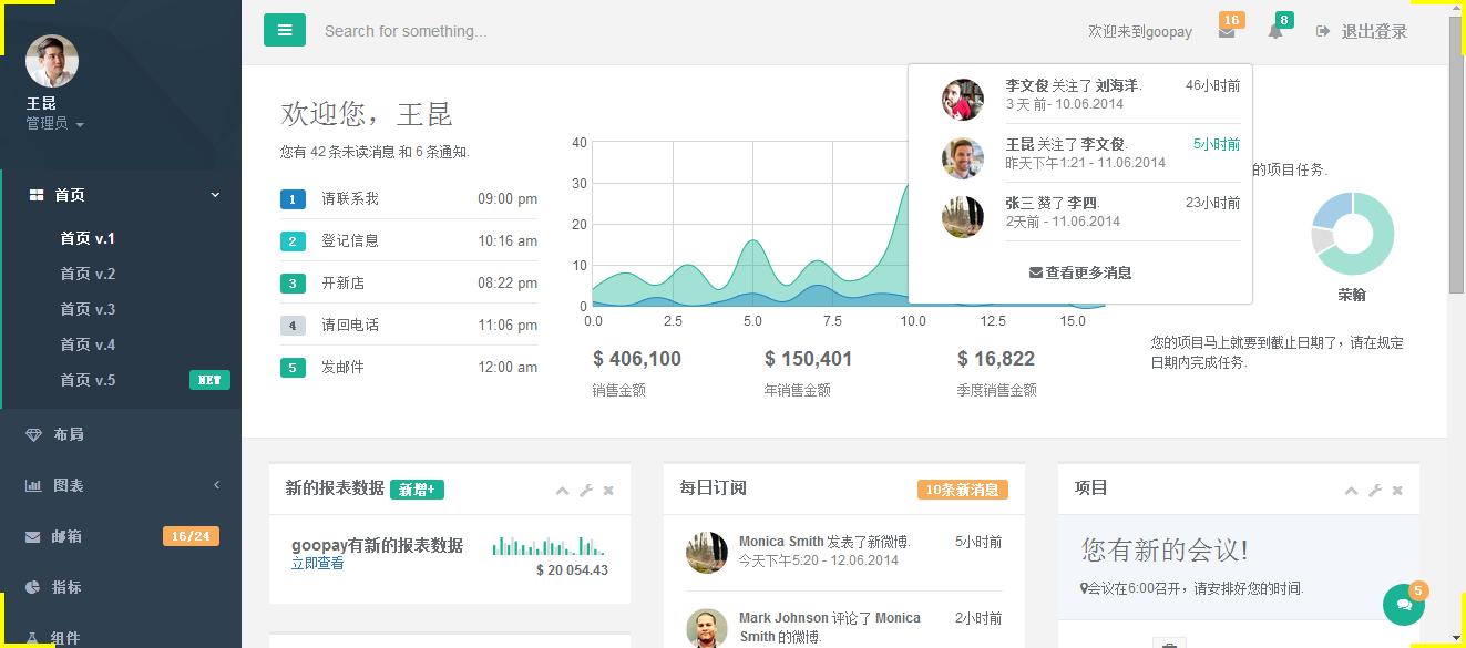 INSPINIA2.5中文模板